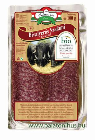 Hortobágyi Bivalyerős Bio-bivaly szalámi - csípős paprikával