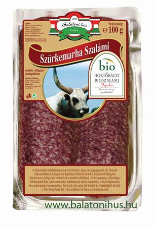 Hortobágyi Bio-Szürkemarha szalámi - csemege paprikával