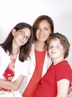 Endrei Judit és gyermekei
